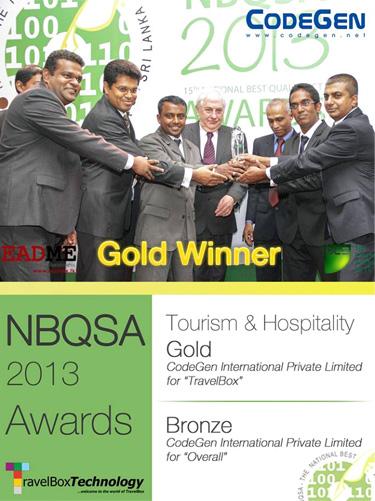 NBQSA Awards for CodeGen 2013